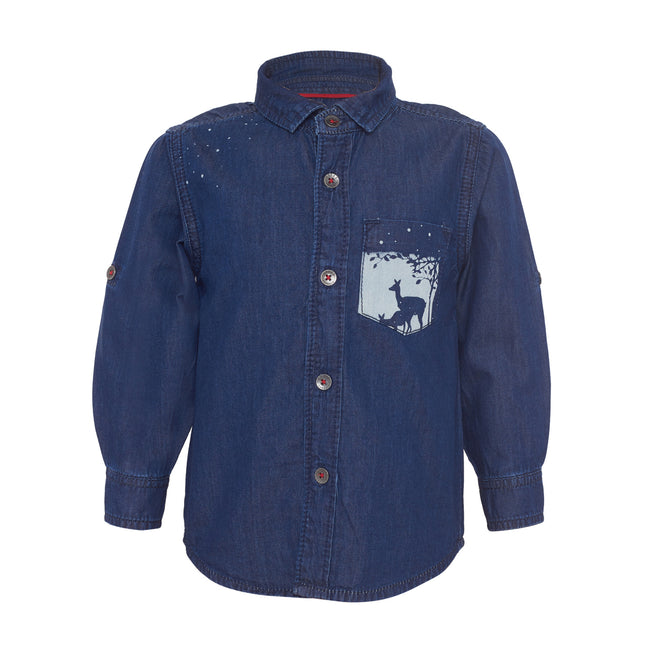 Baby Boys Shirts Dark Blue