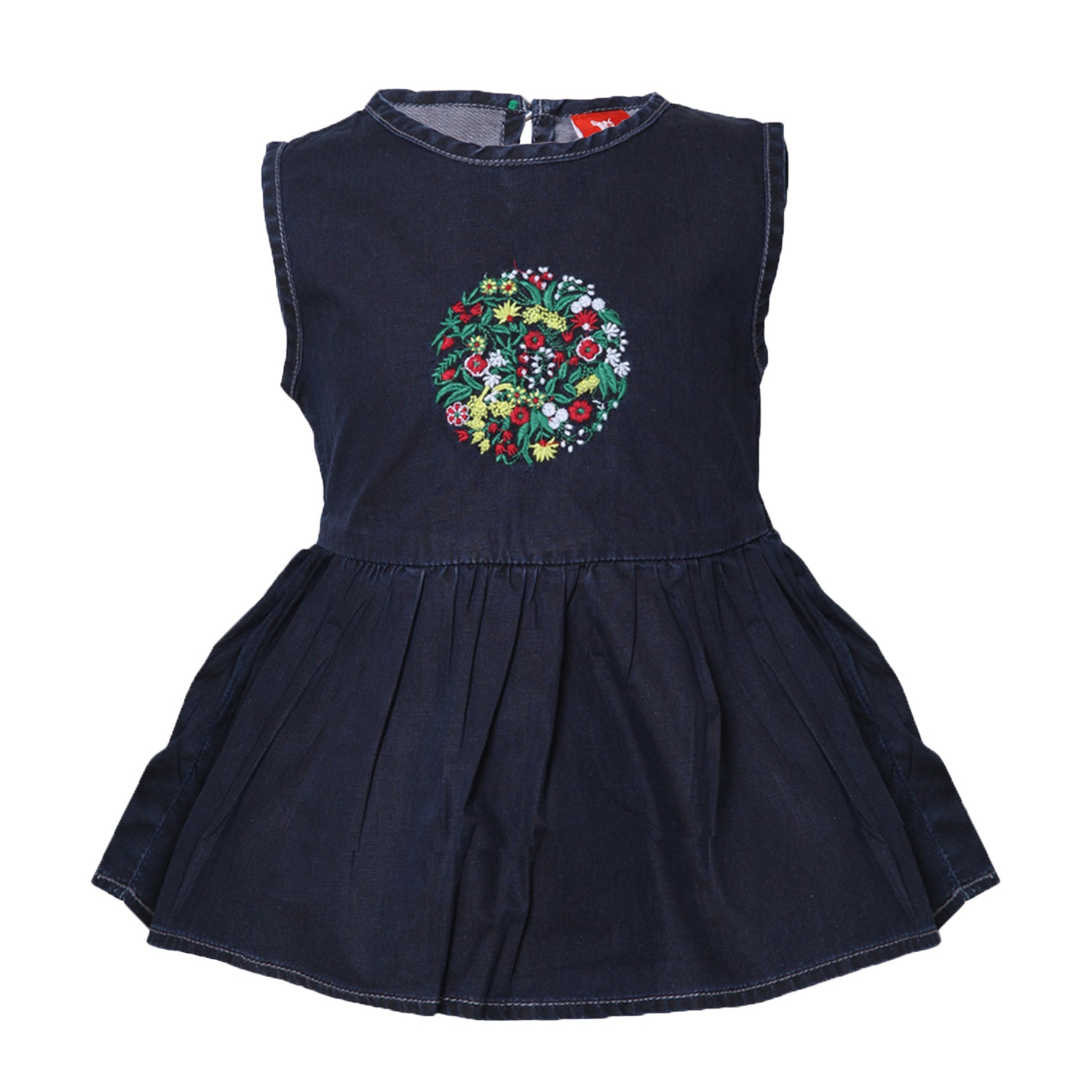 Buy Baby Girls Black Sleeveless Denim Dress line Tales & Stories