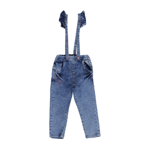 Baby Girl Denim Blue tie & dye Casual Jeans