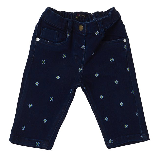 Baby Girls Capri Dark Blue