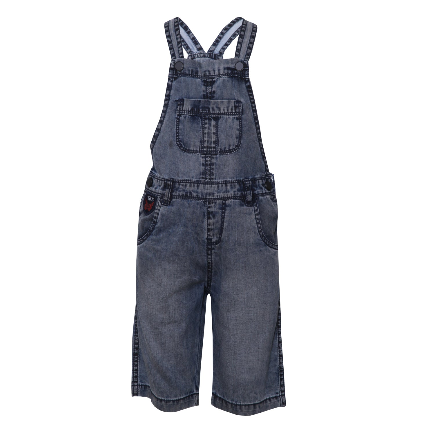 Buy Baby Boys Denim Grey Dungarees line Tales & Stories