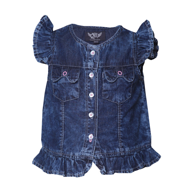 Girls Tops Dark Blue
