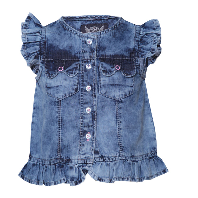 Girls Tops Medium Blue