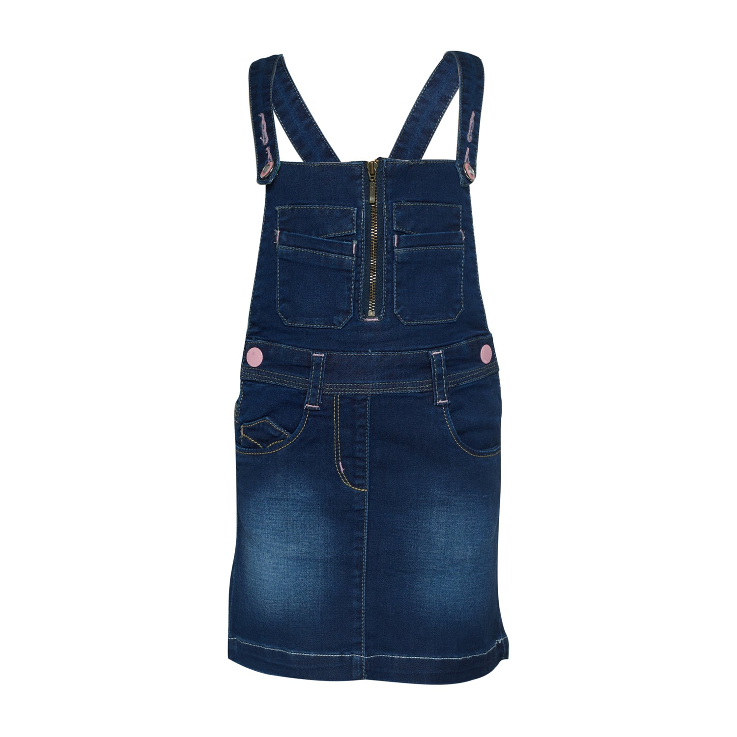 cd26682517b Buy Girls Dark Blue Cotton Dungarees Online - Tales   Stories