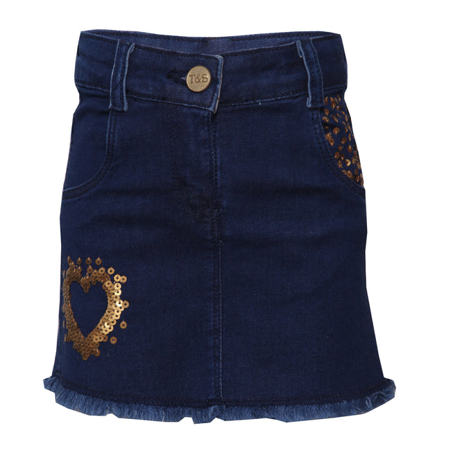 Girls Skirts Dark Blue