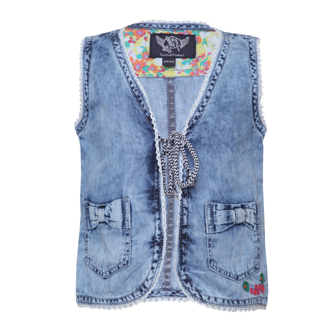 Girls Waistcoats Light Blue