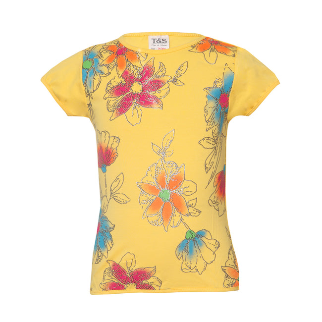Girls Light Yellow Tshirt