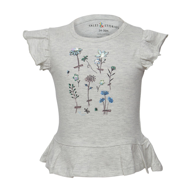 Girls T-Shirts Grey