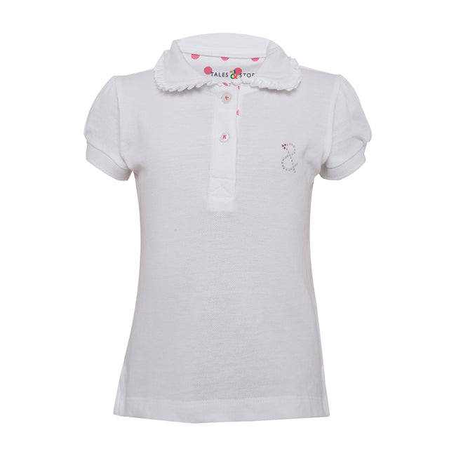 Girls Polo T-Shirts White