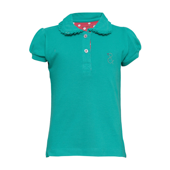 Girls Polo T-Shirts Green