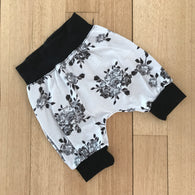 Grey Roses Harem Shorts
