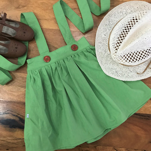 Matcha Tea Suspender Skirt