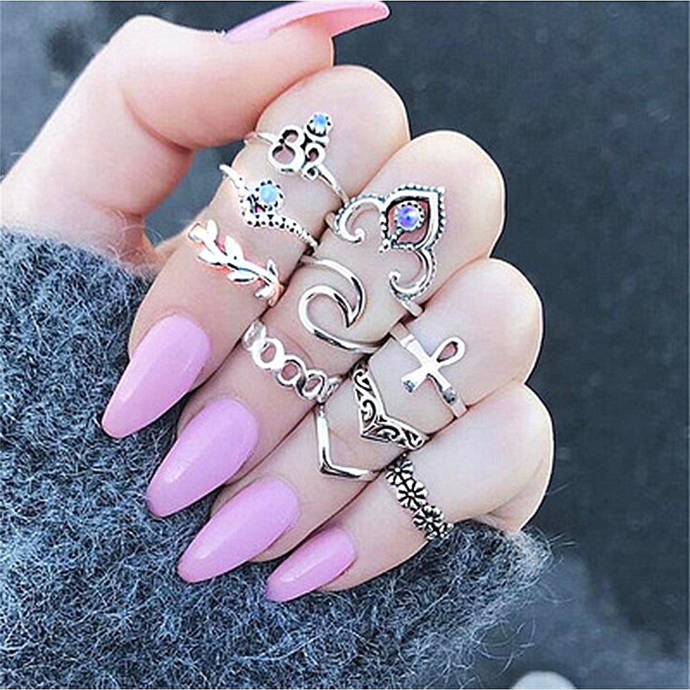10pc Pendant Ring Set