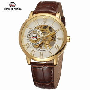 Classic White Gold Skeleton Mechanical Watch Singapore