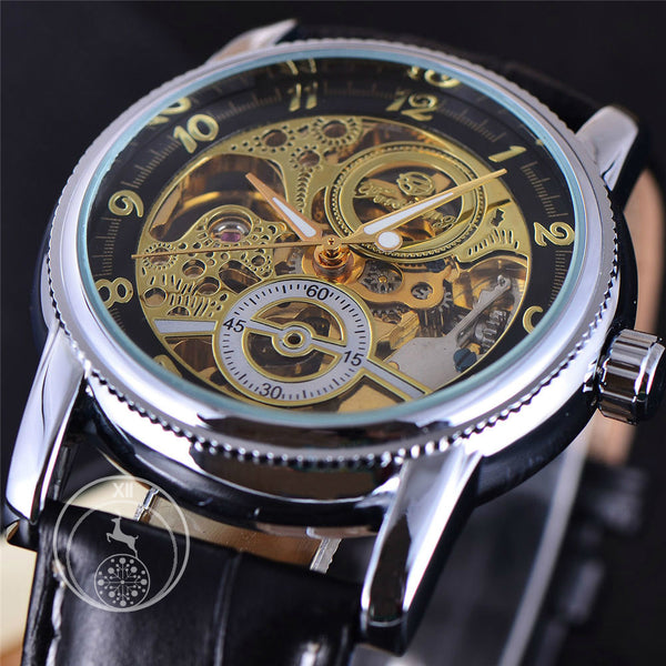 Black Silver Classic Dial Skeleton Watch ATMC Watch Singapore