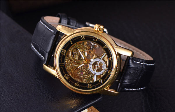 Black Gold Classic Dial Skeleton Watch Singapore Features