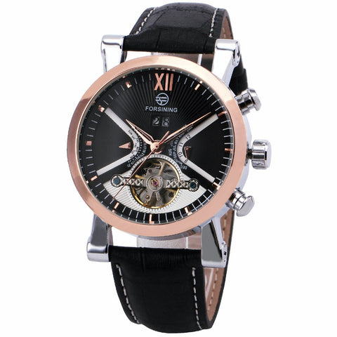 Modern Edge Black Gold Automatic Mechanical Watch