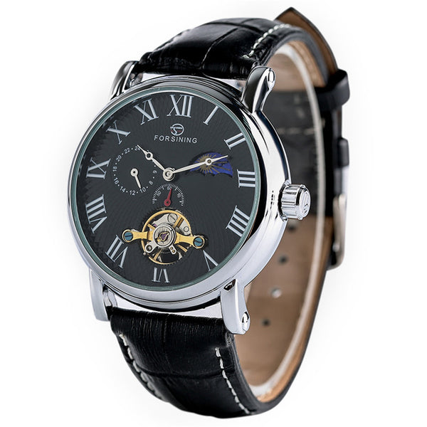 Sun Moon Phase Mechanical Watch SIngapore Black