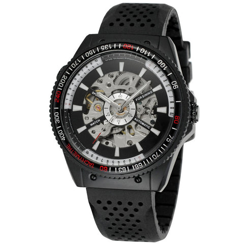 Automatic Mechanical Sport Watch For Men Black