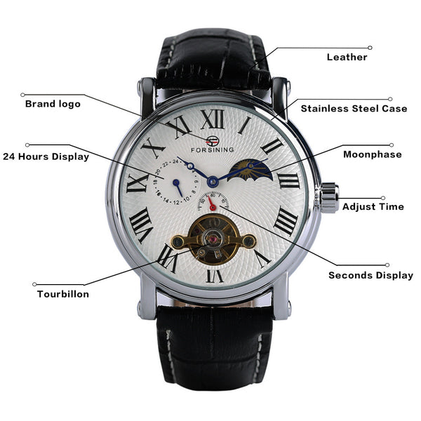 Sun Moon Phase Mechanical Watch SIngapore Functions