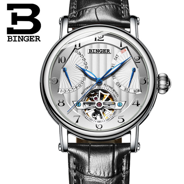 BINGER Guerriero Mechanical Watch Silver White