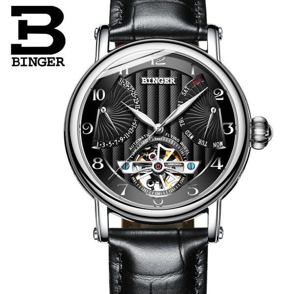 BINGER Guerriero Mechanical Watch Silver Black