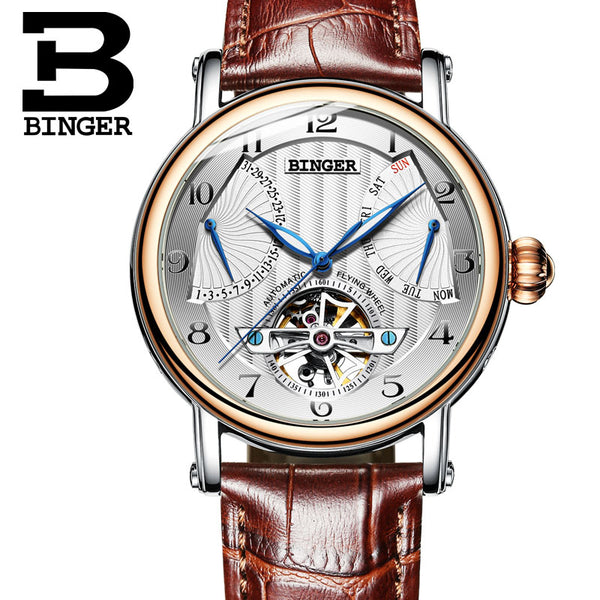 BINGER Guerriero Mechanical Watch Gold White