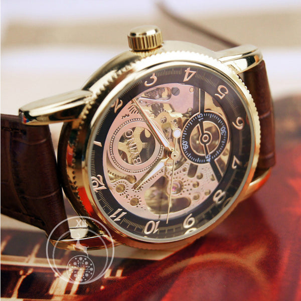 Black Gold Classic Dial Skeleton Watch Singapore