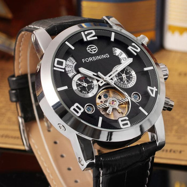 Novelty 165M3 Automatic Mechanical Watch Black Silver Magnificent