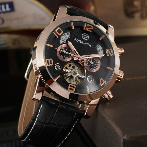 Novelty 165M3 Automatic Mechanical Watch Black Gold Magnificent
