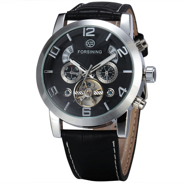 Novelty 165M3 Automatic Mechanical Watch Black Silver
