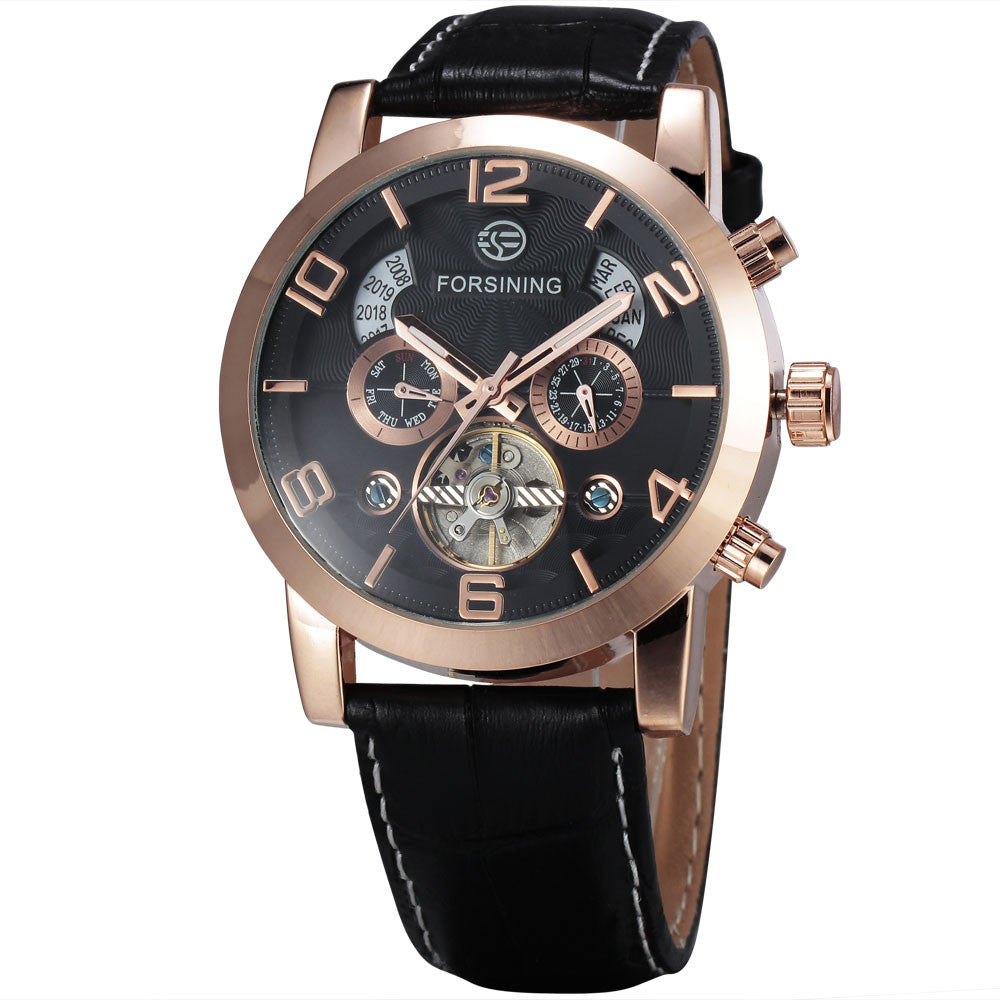 Novelty 165M3 Automatic Mechanical Watch Black Gold