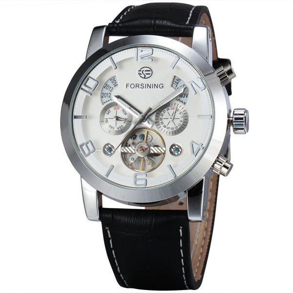 Novelty 165M3 Automatic Mechanical Watch White Silver