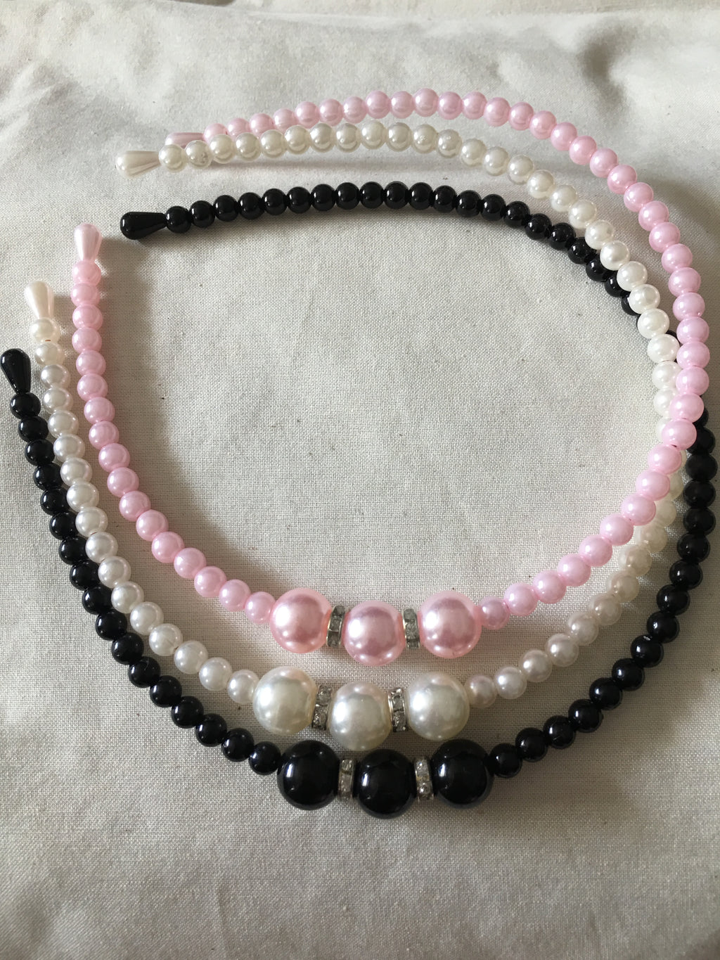 GIRLS PEARL LOOK HEADBANDS