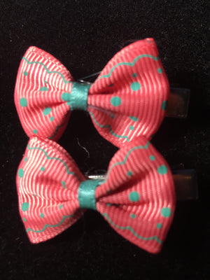 MINI BOW CLIP SET #6