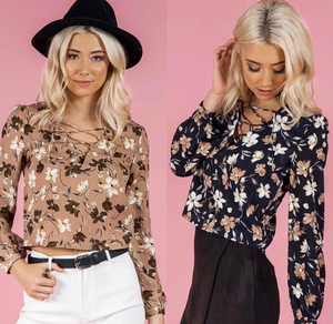 BOHO FLORAL LONG SLEEVE TOP
