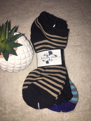 BOYS ANKLE SOCKS 3PK SIZE 6-8