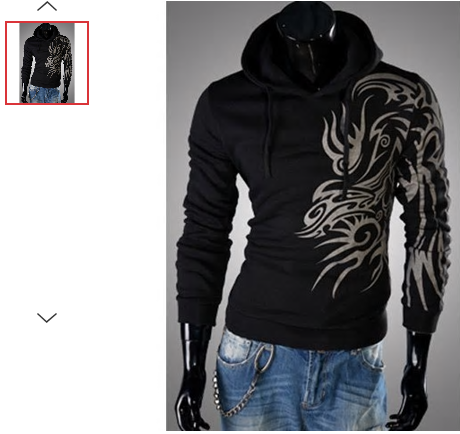 MENS/YOUTH LONG SLEEVE TATTOO PRINT HOODIE