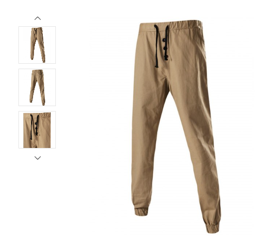 MENS/YOUTH BUTTON EMBELLISHED CHINOS