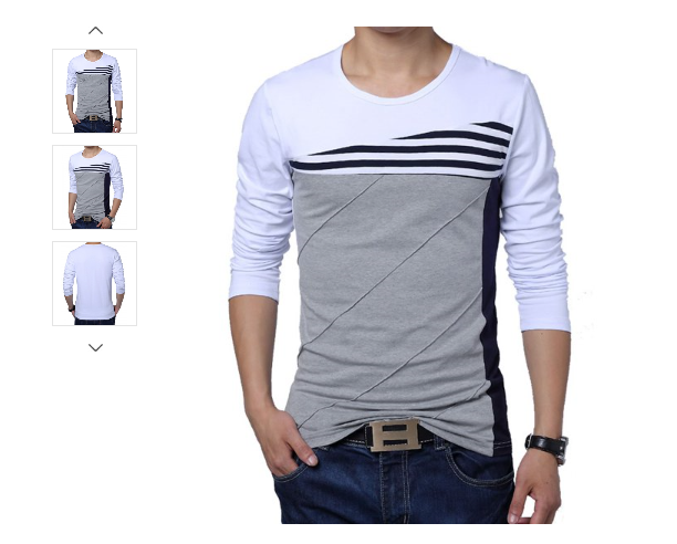 MENS/YOUTH CASUAL ROUND NECK LONG SLEEVE TOP
