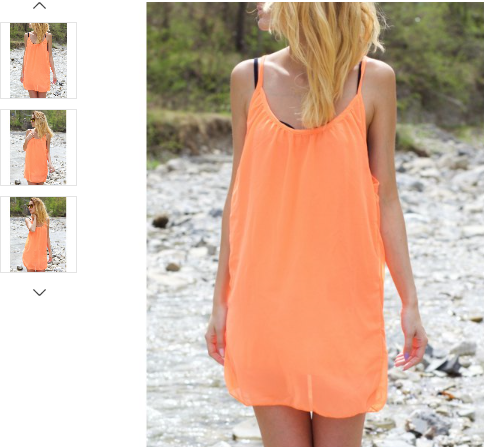 STRAPPY RACERBACK CHIFFON DRESS