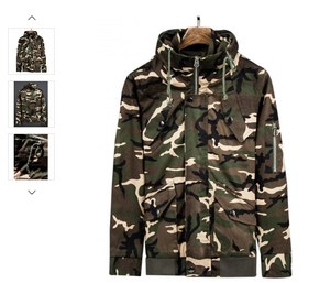 SNAP BUTTON CAMO TOP