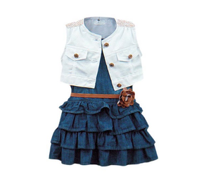 GIRLS 3 PIECE DRESS SET