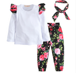 GIRLS 3 PIECE FLORAL SET