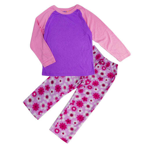 GIRLS (6-12) WINTER PJS SET PINK/PURPLE