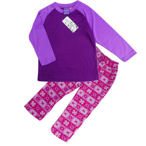 GIRLS (2-6) WINTER PJS SET PURPLE