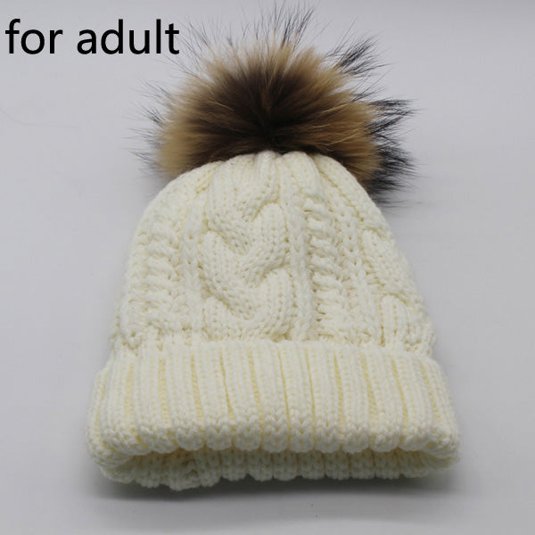 fb6ba90dede Women s Warm Fleece Inside Beanie Hats Winter Mink Raccoon Fur Pompom.  Quality Products at Bargain Prices - Bargain Supreme