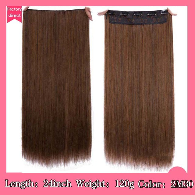 5 Clip In Hair Heat Resistant Synthetic Hair Extensions Bargain