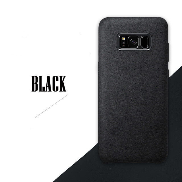official photos 97d4b 9a3d8 Samsung S8 Case Phone Case Washable Car Suede Leather Phone Protective Case