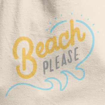 Beach Please Cotton Tote Bag